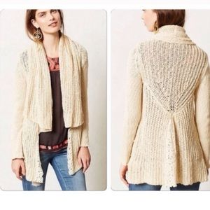 Anthropologie Knitted & Knotted Lace Cardigan